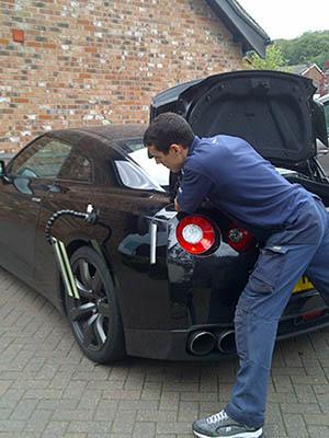 Working on Nissan GTR